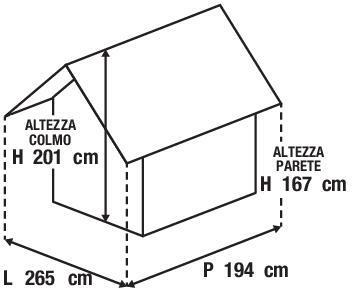 Casetta da giardino in legno Bouganvillea, superficie interna 4.32 m² e spessore parete 12 mm - 6