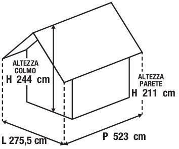 Chiosco in metallo Cuba 2 ribalte, superficie totale 14.41 m² e spessore parete 60 mm - 2