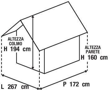 Casetta da giardino in metallo Burgas, superficie totale 4.35 m² e spessore parete 27 mm - 3