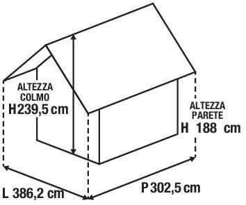 Casetta da giardino in legno Azalea, superficie interna 9.05 m² e spessore parete 28 mm - 6