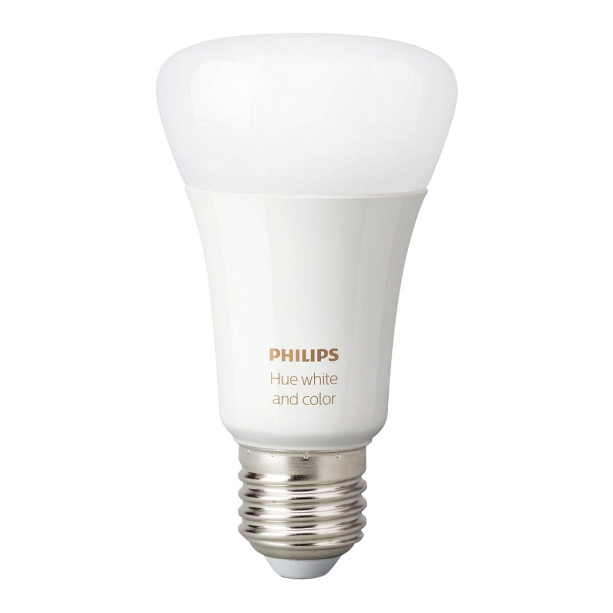 Set di 2 lampadine LED, HUE COLOR BLUETOOTH, E27, Goccia, Opaco, RGB, 9W=806LM (equiv 60 W), 150° , PHILIPS HUE - 2