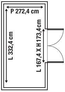 Casetta da giardino in legno Azalea, superficie interna 9.05 m² e spessore parete 28 mm - 5
