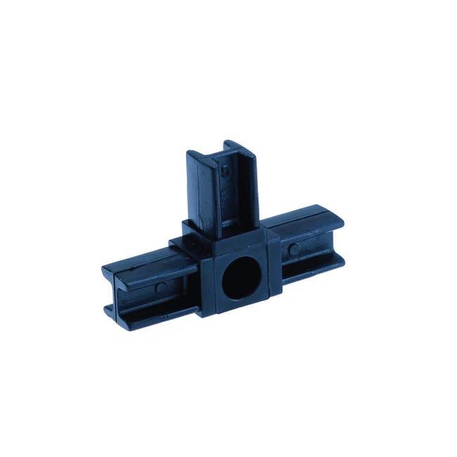 Raccordo T in pvc nero x 20 mm, - 1
