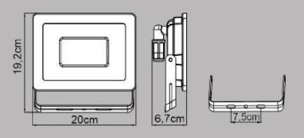 Proiettore LED integrato Yonkers in alluminio, antracite, 50W IP65 INSPIRE - 4