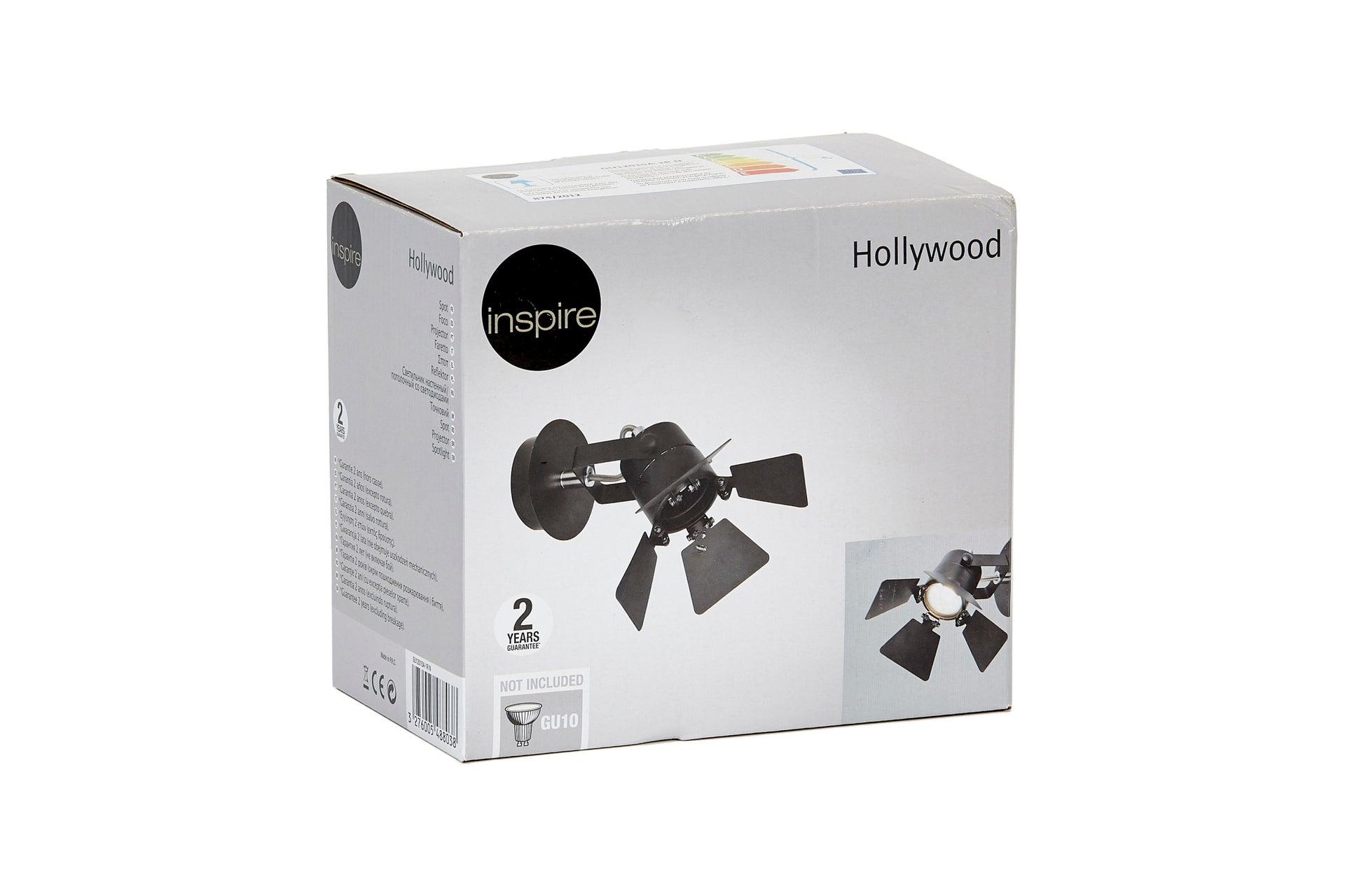 Faretto a muro Hollywood nero, in metallo, GU10 42W IP20 INSPIRE - 7