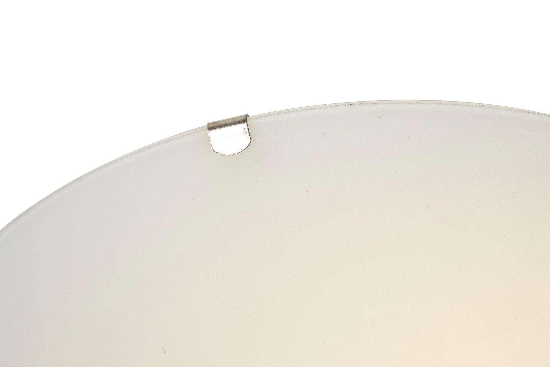 Plafoniera classico Pluton bianco, in cristallo, D. 25 cm 25x25 cm, - 9