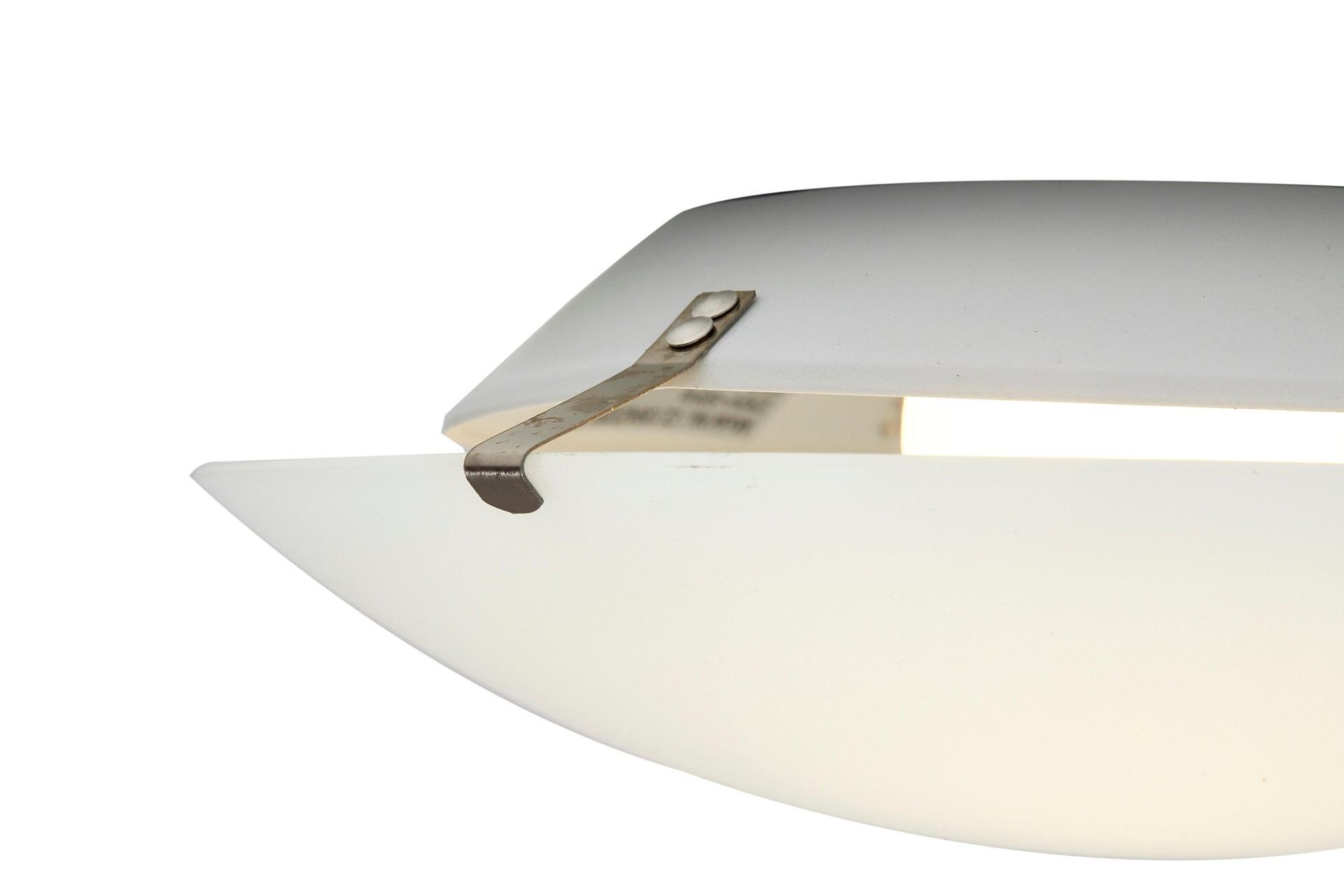 Plafoniera classico Pluton bianco, in cristallo, D. 25 cm 25x25 cm, - 7