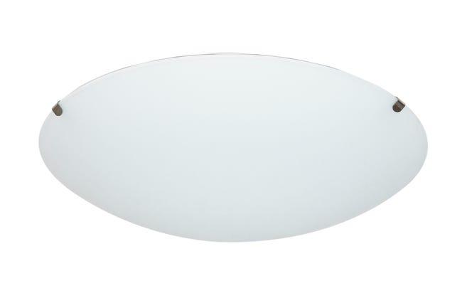 Plafoniera classico Pluton bianco, in cristallo, D. 25 cm 25x25 cm, - 1