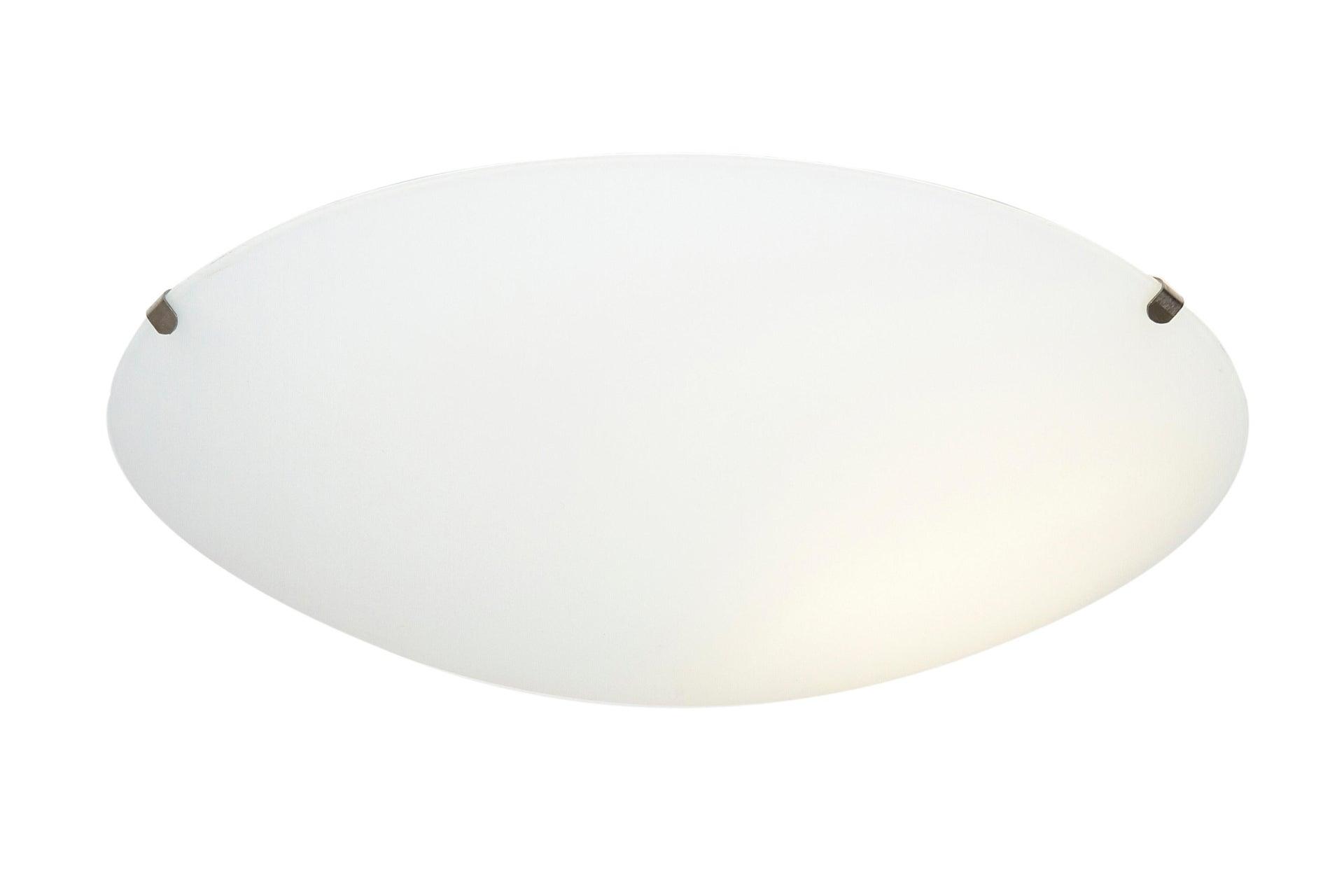 Plafoniera classico Pluton bianco, in cristallo, D. 25 cm 25x25 cm, - 11