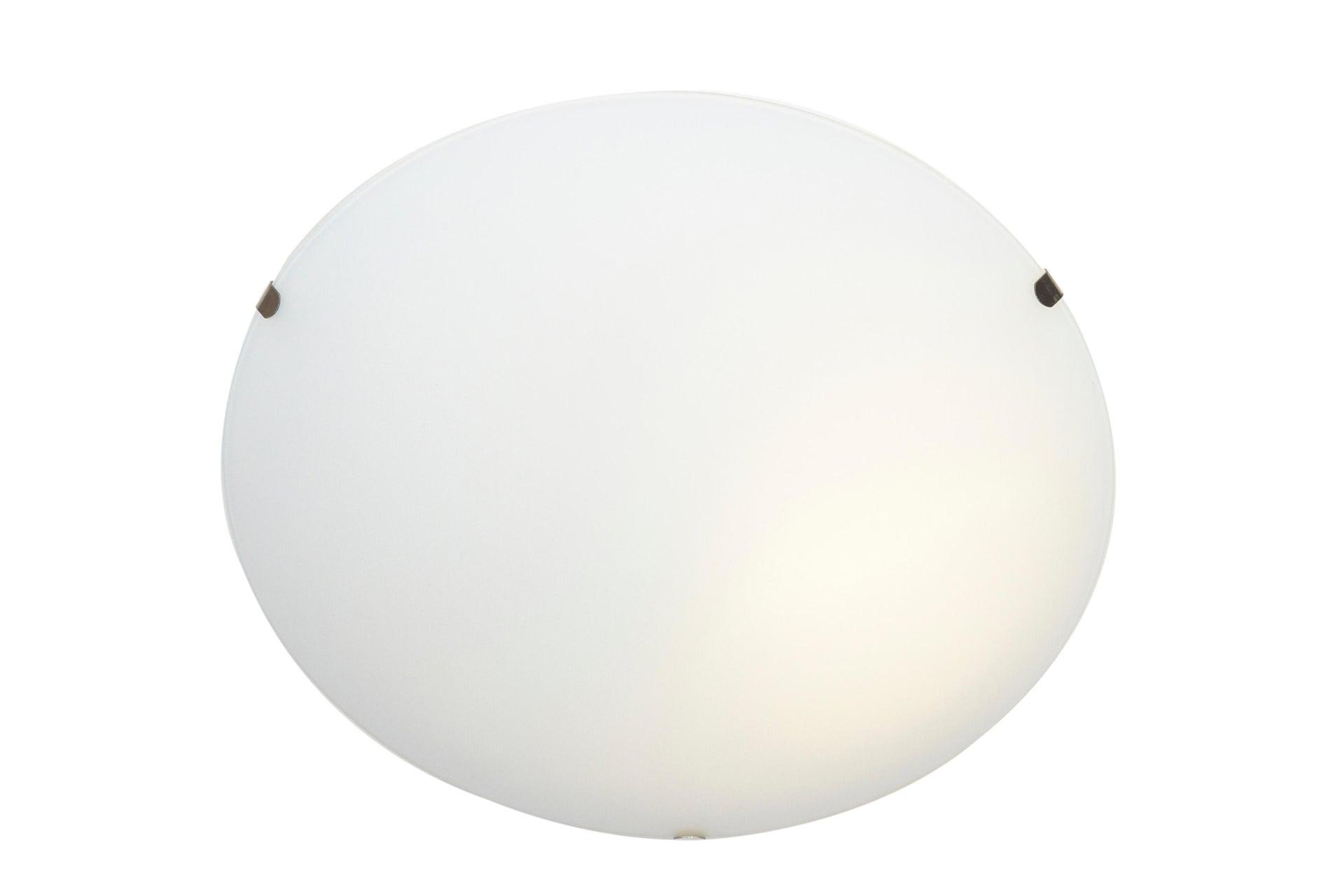 Plafoniera classico Pluton bianco, in cristallo, D. 25 cm 25x25 cm, - 6