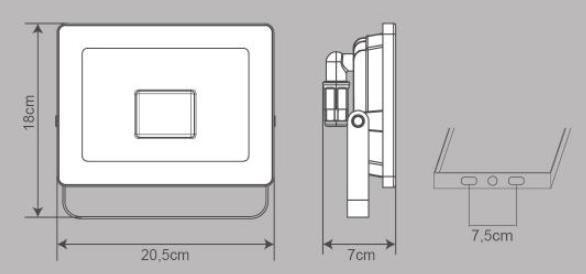 Proiettore LED integrato Yonkers in alluminio, antracite, 50W IP65 INSPIRE - 2