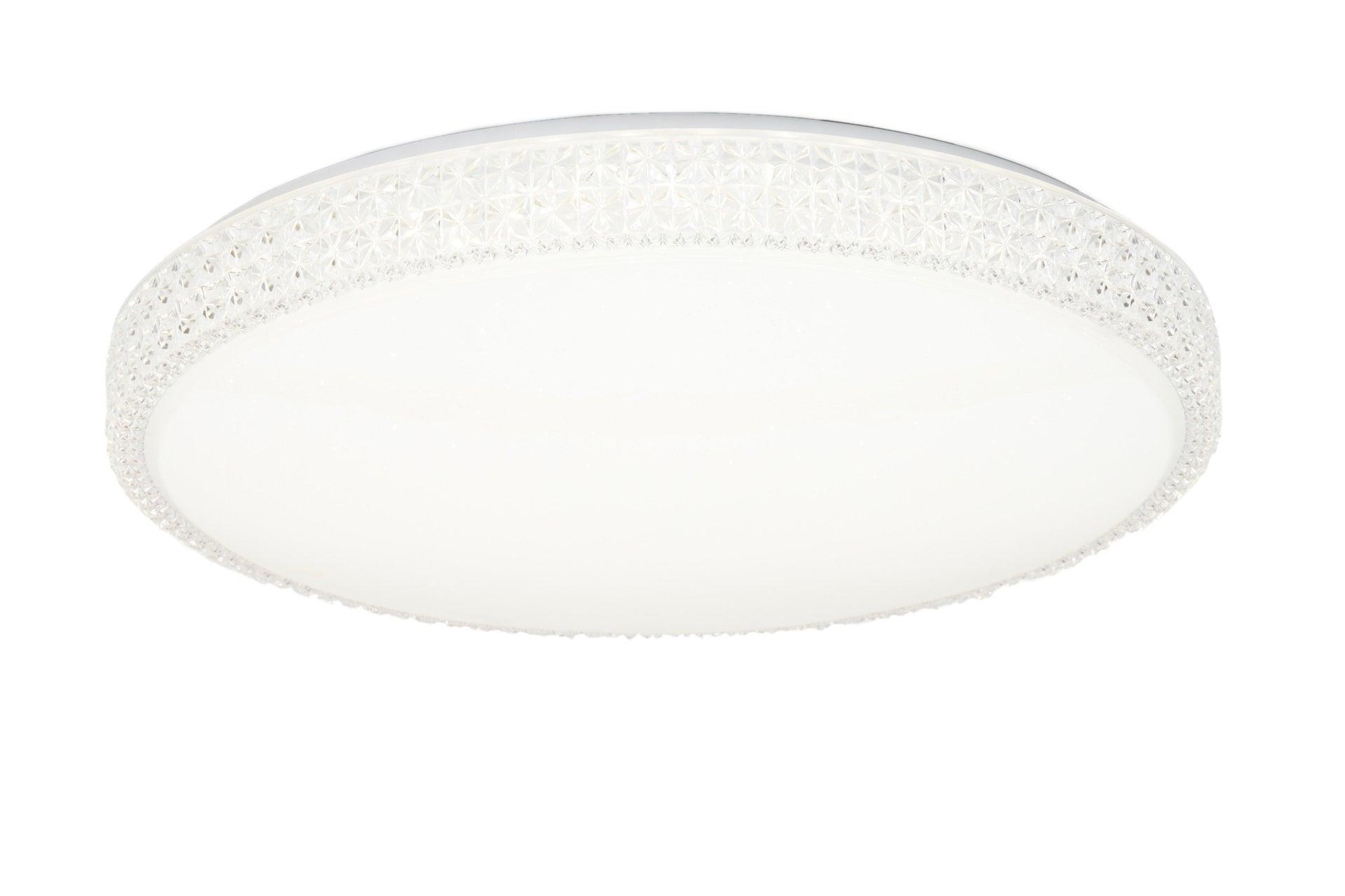 Plafoniera neoclassico Soledad LED integrato bianco D. 60 cm - 1