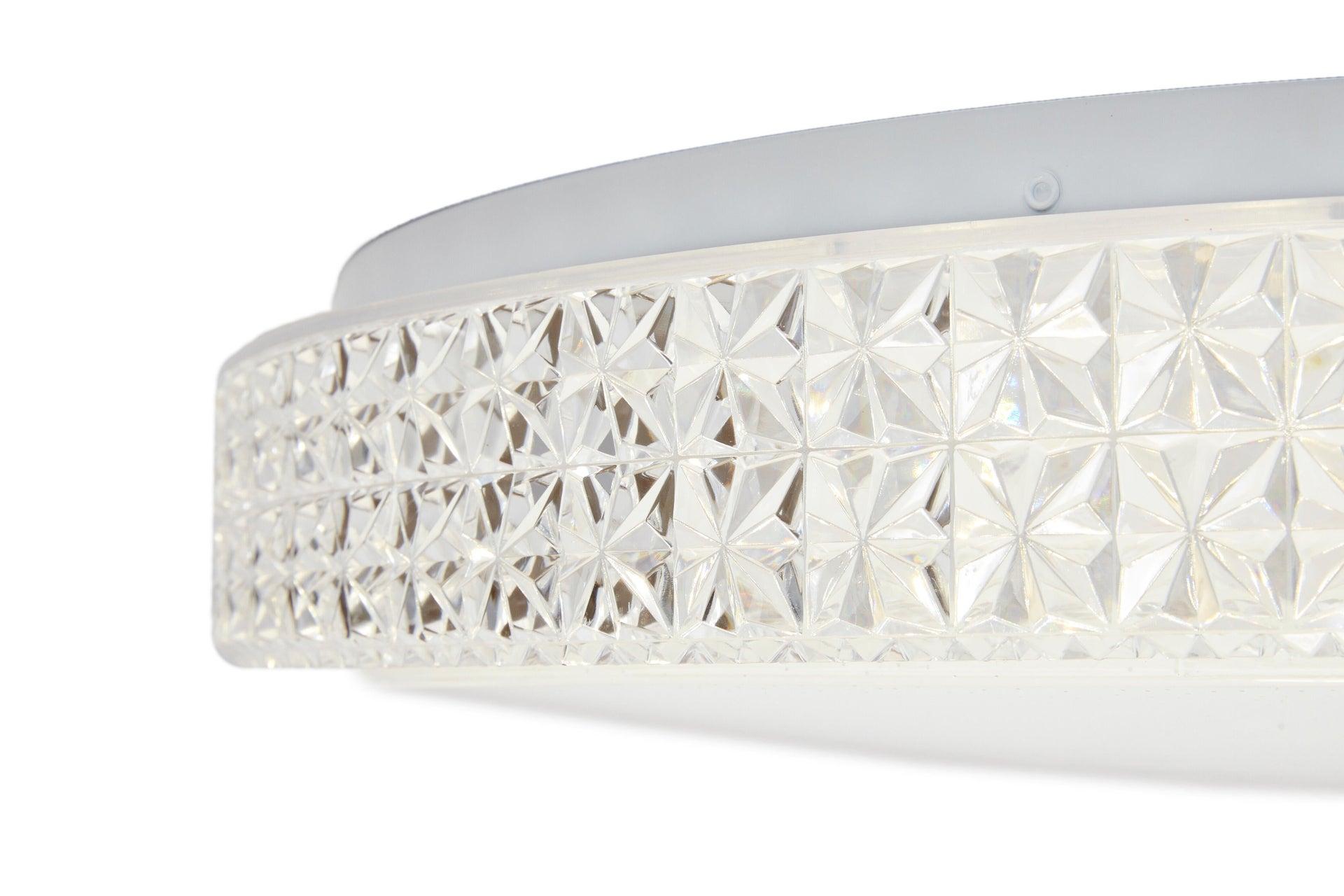 Plafoniera neoclassico Soledad LED integrato bianco D. 60 cm - 6
