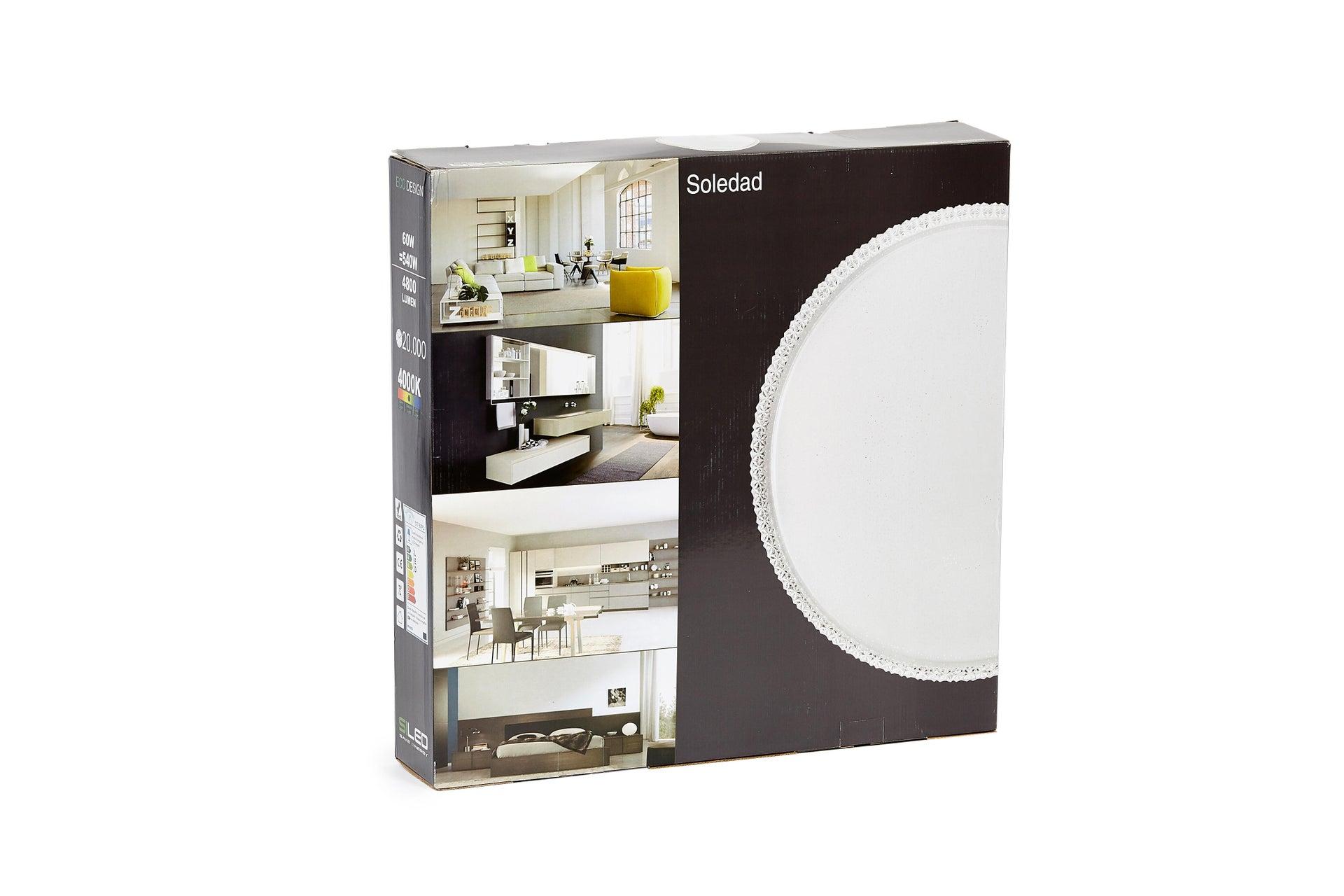 Plafoniera neoclassico Soledad LED integrato bianco D. 60 cm - 7