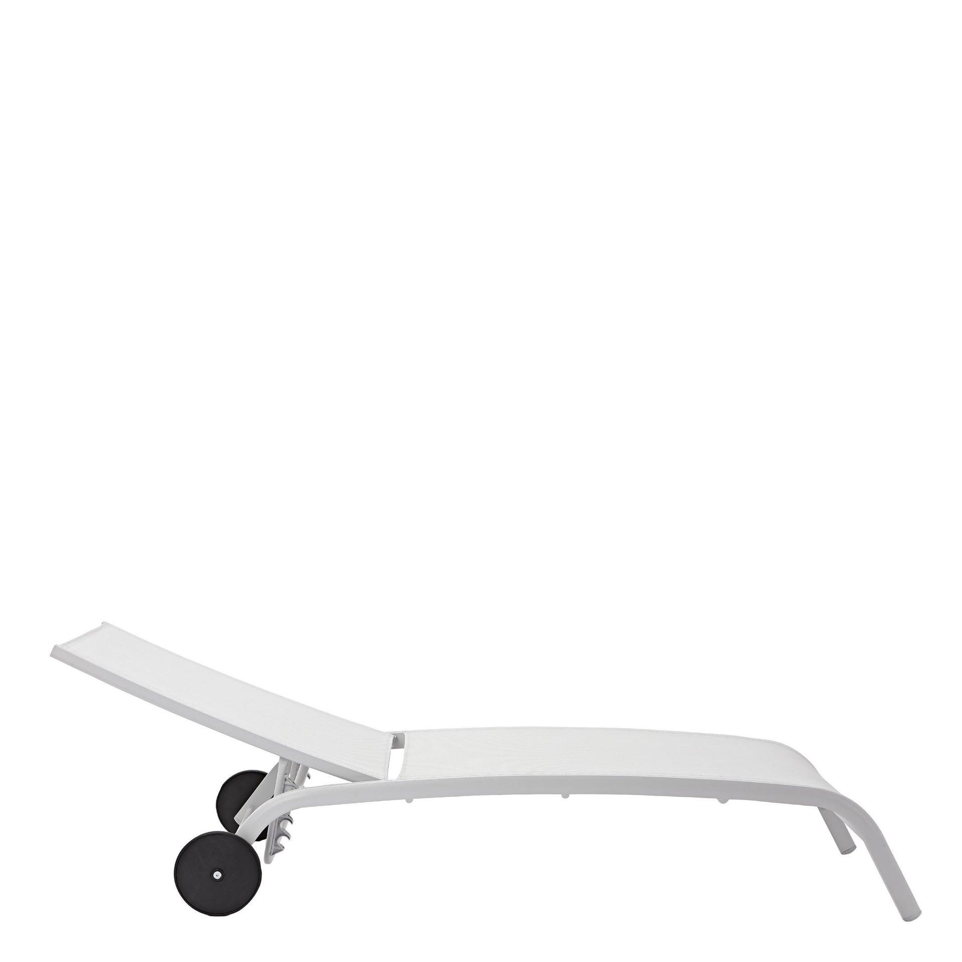 Lettino senza cuscino impilabile NATERIAL Lyra in alluminio grigio scuro - 18