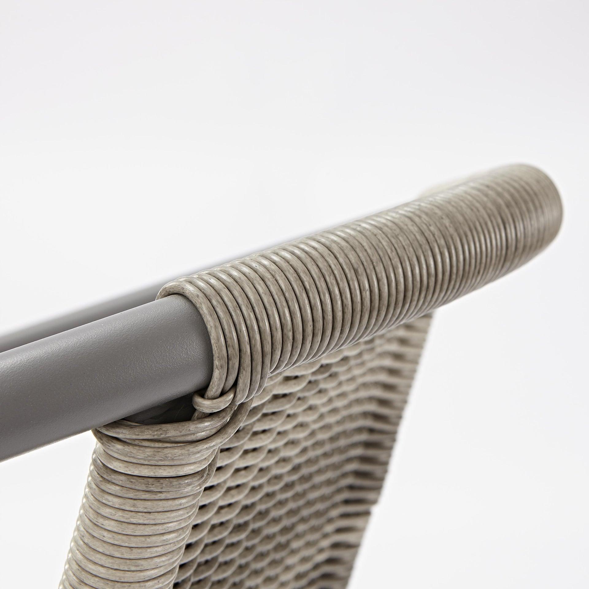 Sedia con braccioli senza cuscino in acciaio Elia colore beige - 2