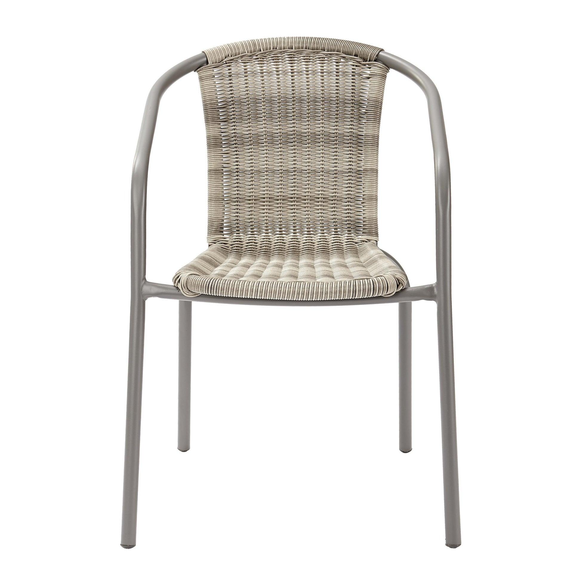 Sedia con braccioli senza cuscino in acciaio Elia colore beige - 8