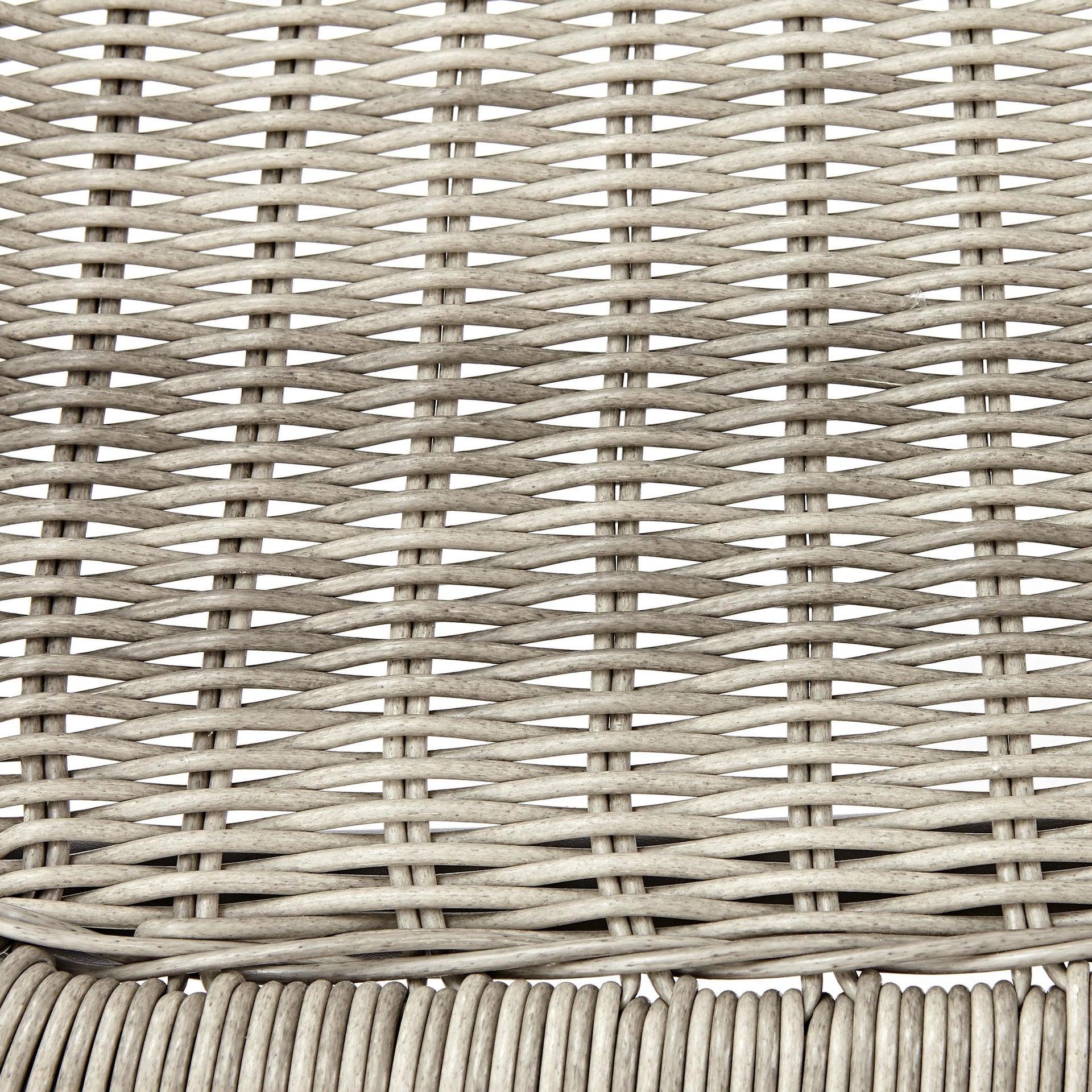 Sedia con braccioli senza cuscino in acciaio Elia colore beige - 9