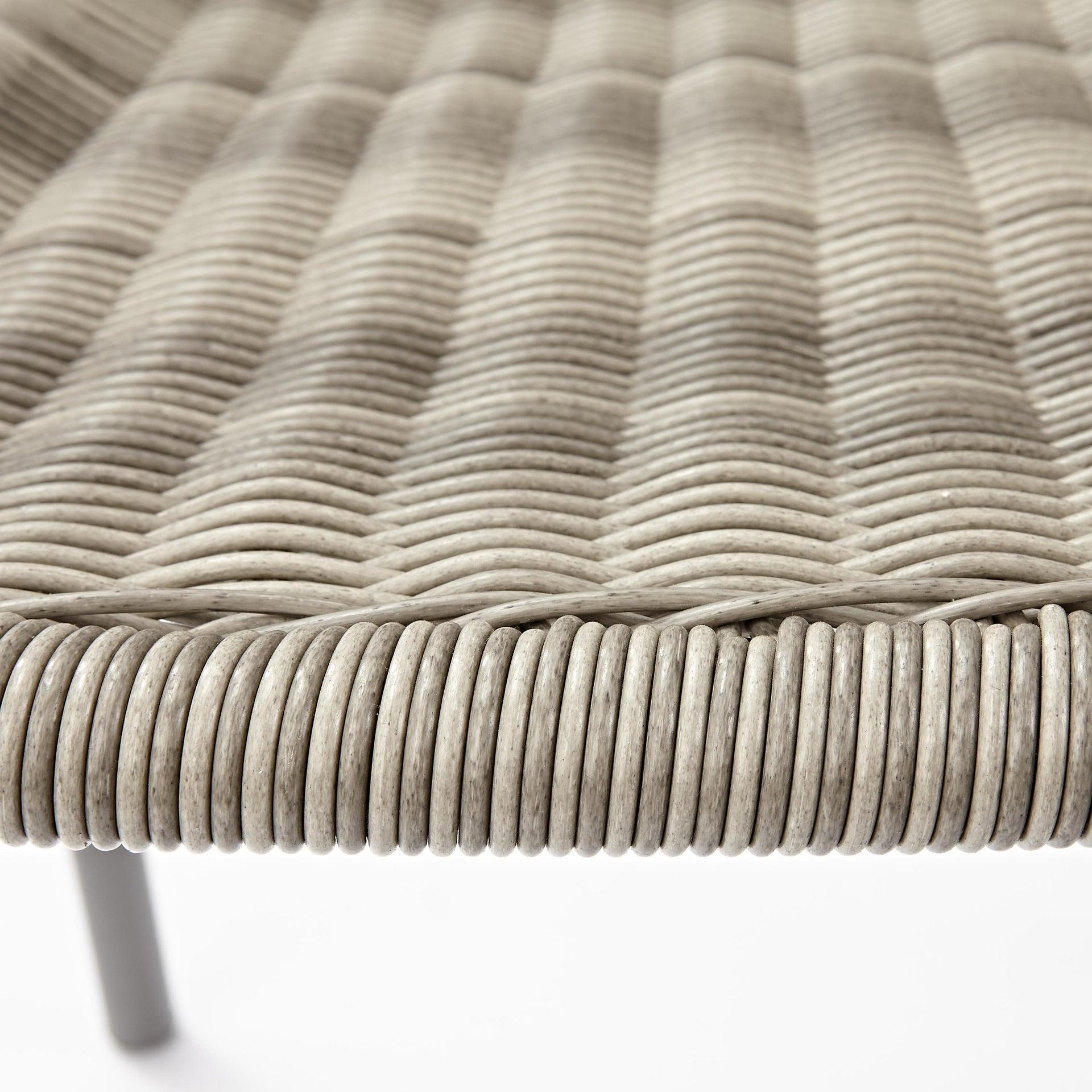 Sedia con braccioli senza cuscino in acciaio Elia colore beige - 4