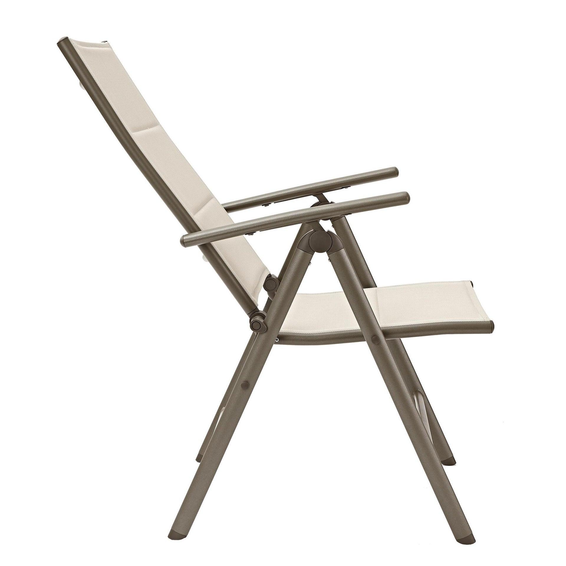 Sedia con braccioli senza cuscino pieghevole in alluminio Orion NATERIAL colore antracite - 6