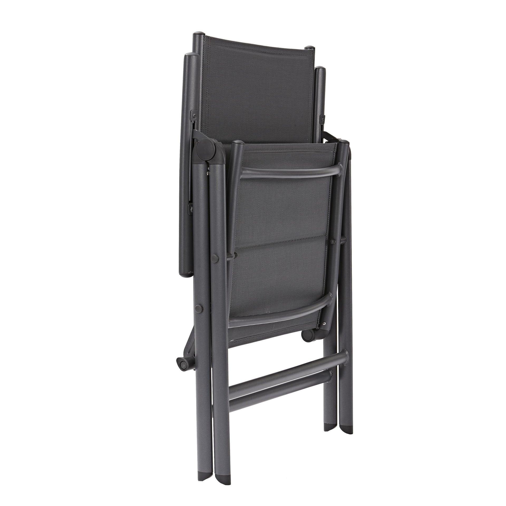 Sedia con braccioli senza cuscino pieghevole in alluminio Orion NATERIAL colore antracite - 11