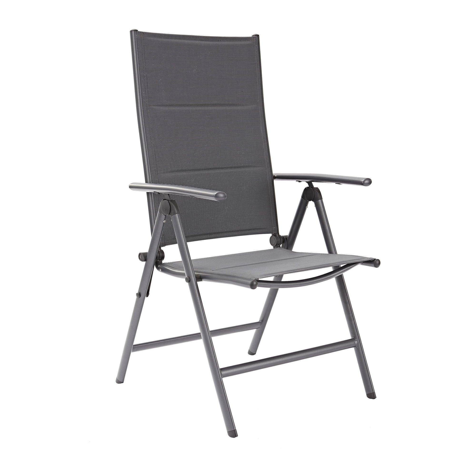 Sedia con braccioli senza cuscino pieghevole in alluminio Orion NATERIAL colore antracite - 1