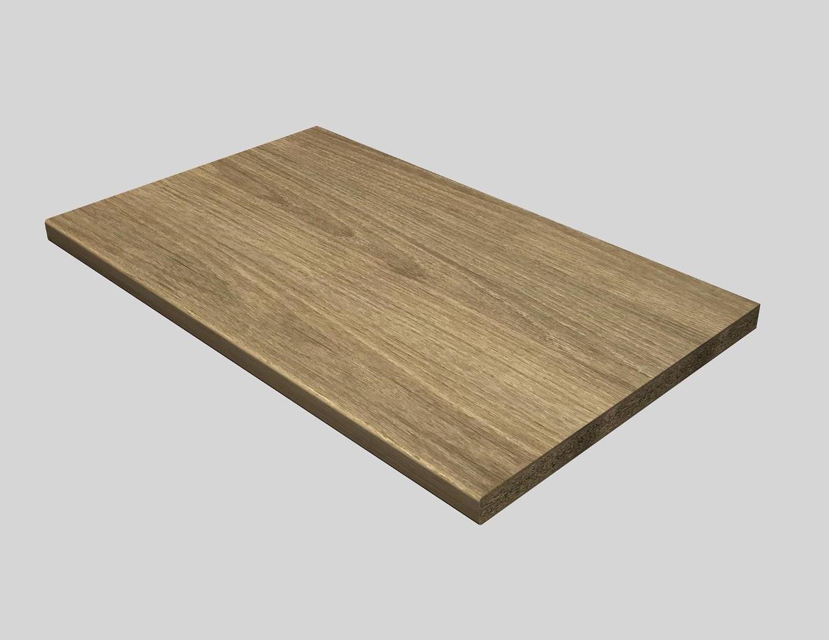 Piano di lavoro in legno rovere L 180 x P 60 cm, spessore 2.8 cm