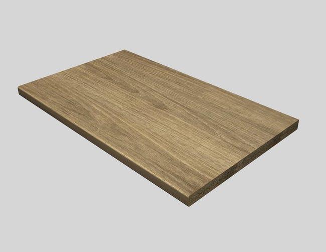 Piano di lavoro in legno rovere L 180 x P 60 cm, spessore 2.8 cm - 1