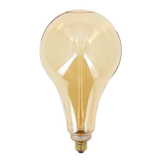Lampadina decorativa LED, E27, Pera, Ambra, Luce calda, 40W=180LM (equiv 40 W), 320° , XANLITE - 1