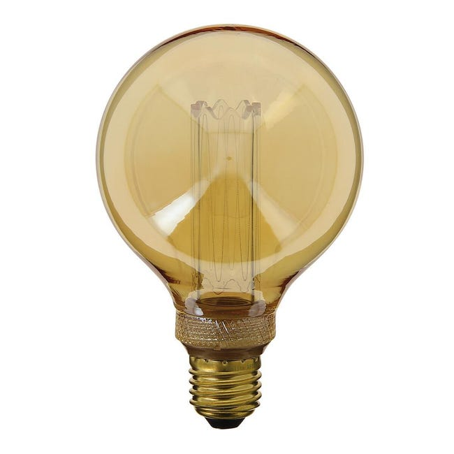 Lampadina decorativa LED, E27, Globo, Ambra, Luce calda, 40W=200LM (equiv 40 W), 320° , XANLITE - 1