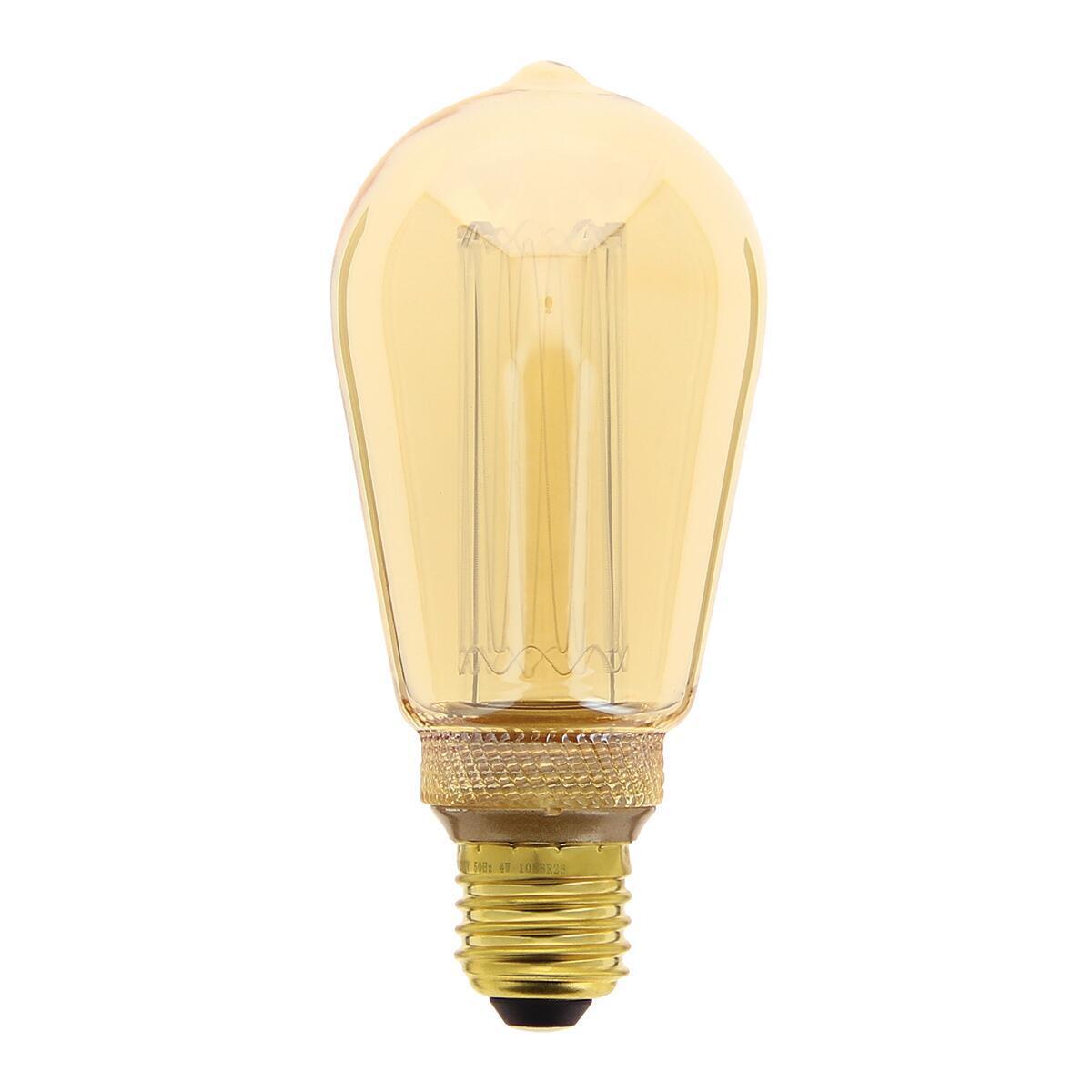 Lampadina decorativa LED, E27, Goccia, Ambra, Luce calda, 40W=200LM (equiv 40 W), 320° , XANLITE - 1