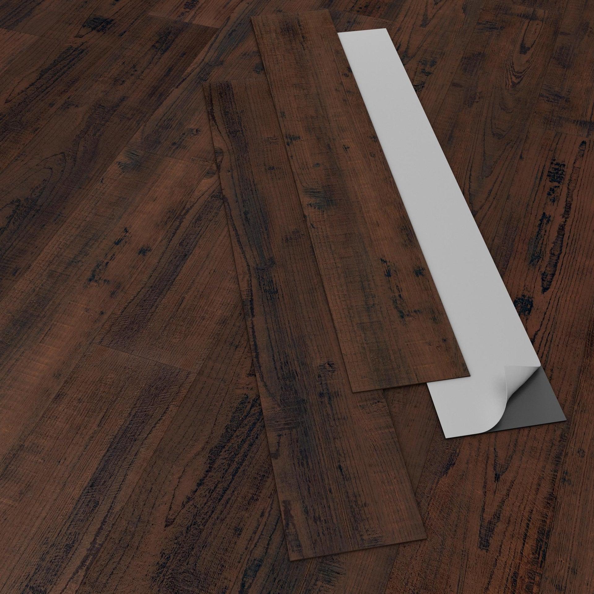 Pavimento PVC adesivo Tobacco Sp 2 mm marrone - 4