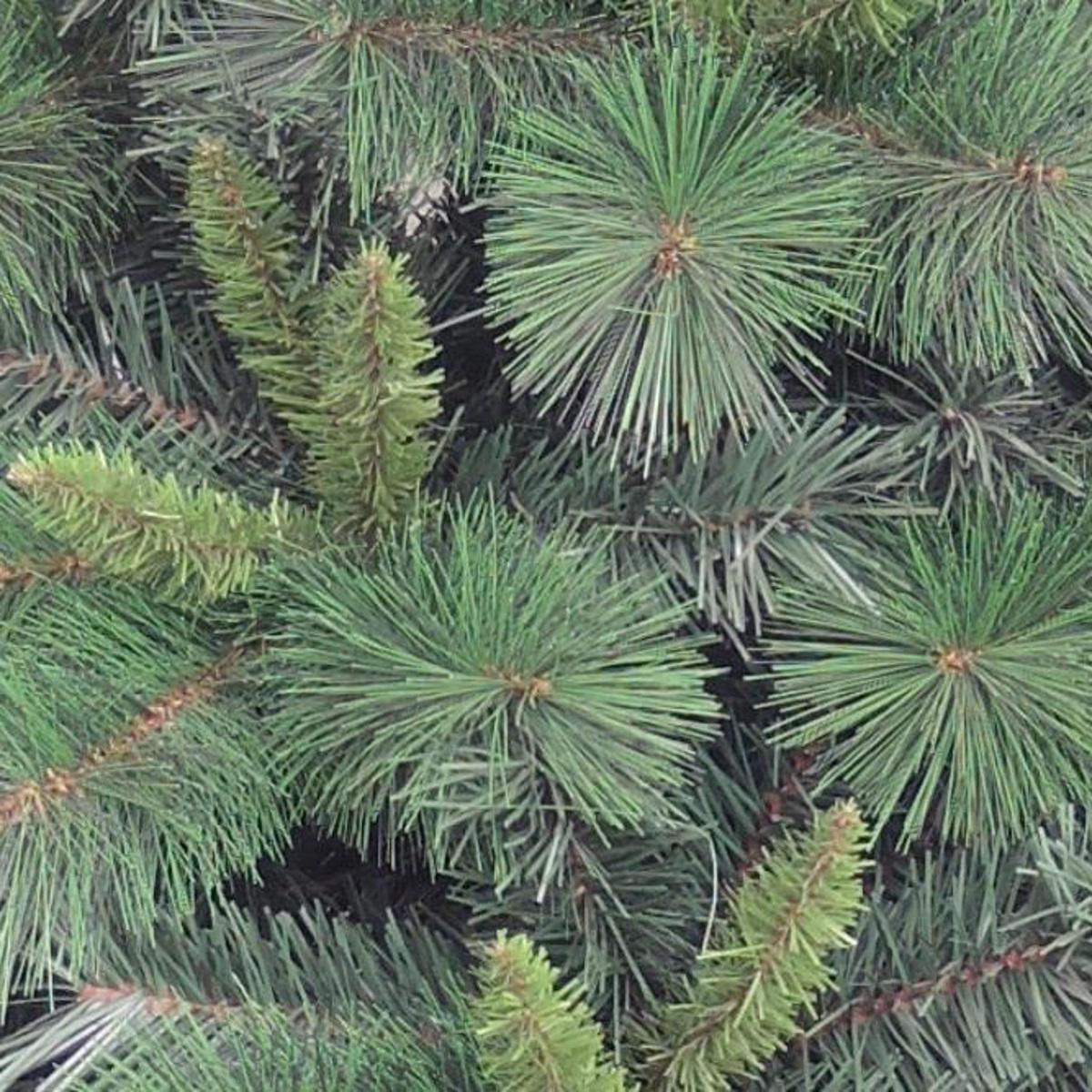 Albero di natale artificiale Marmolada verde H 150 cm, - 3