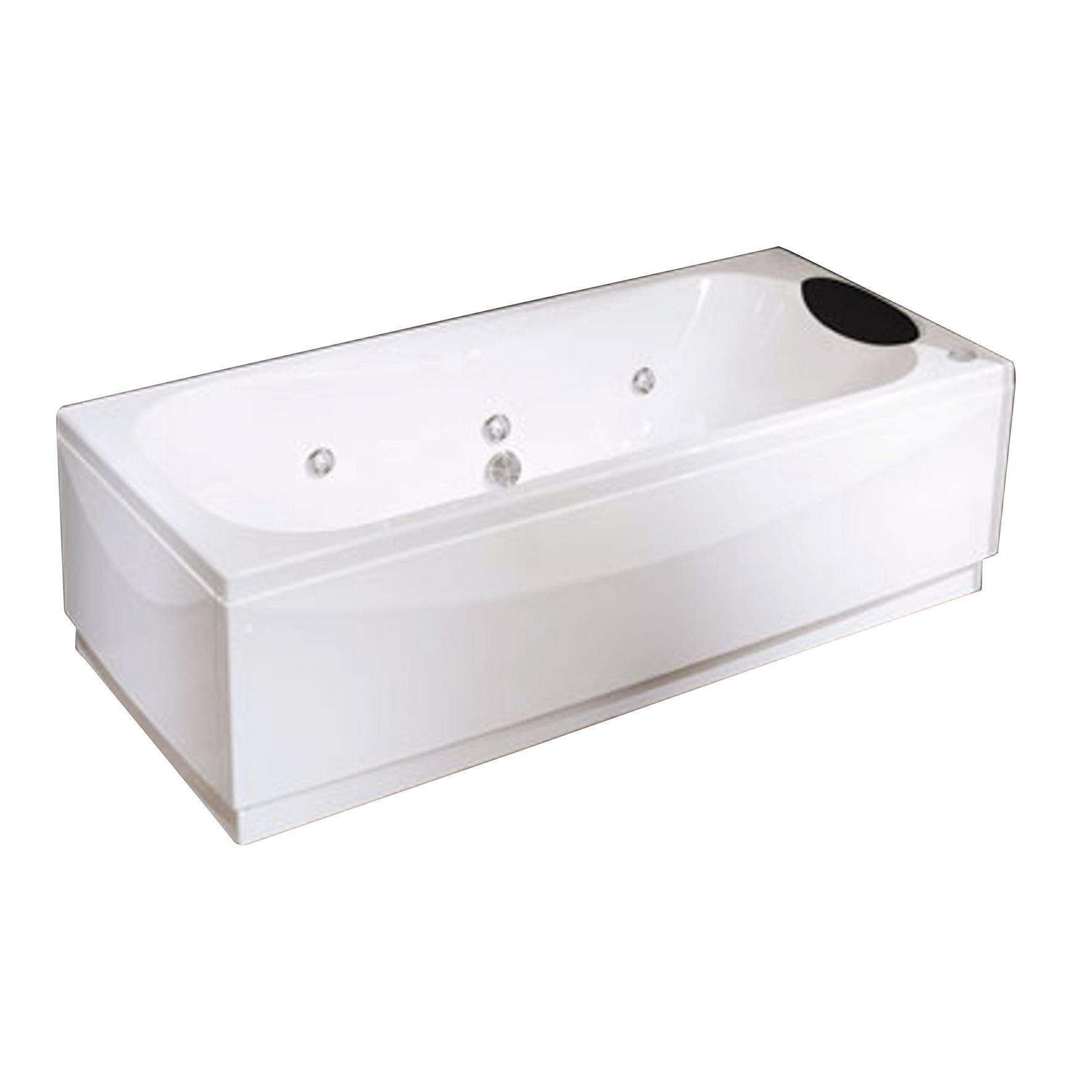 Vasca idromassaggio rettangolare Egeria,bianco ,170, 75 cm, 6 bocchette, - 4