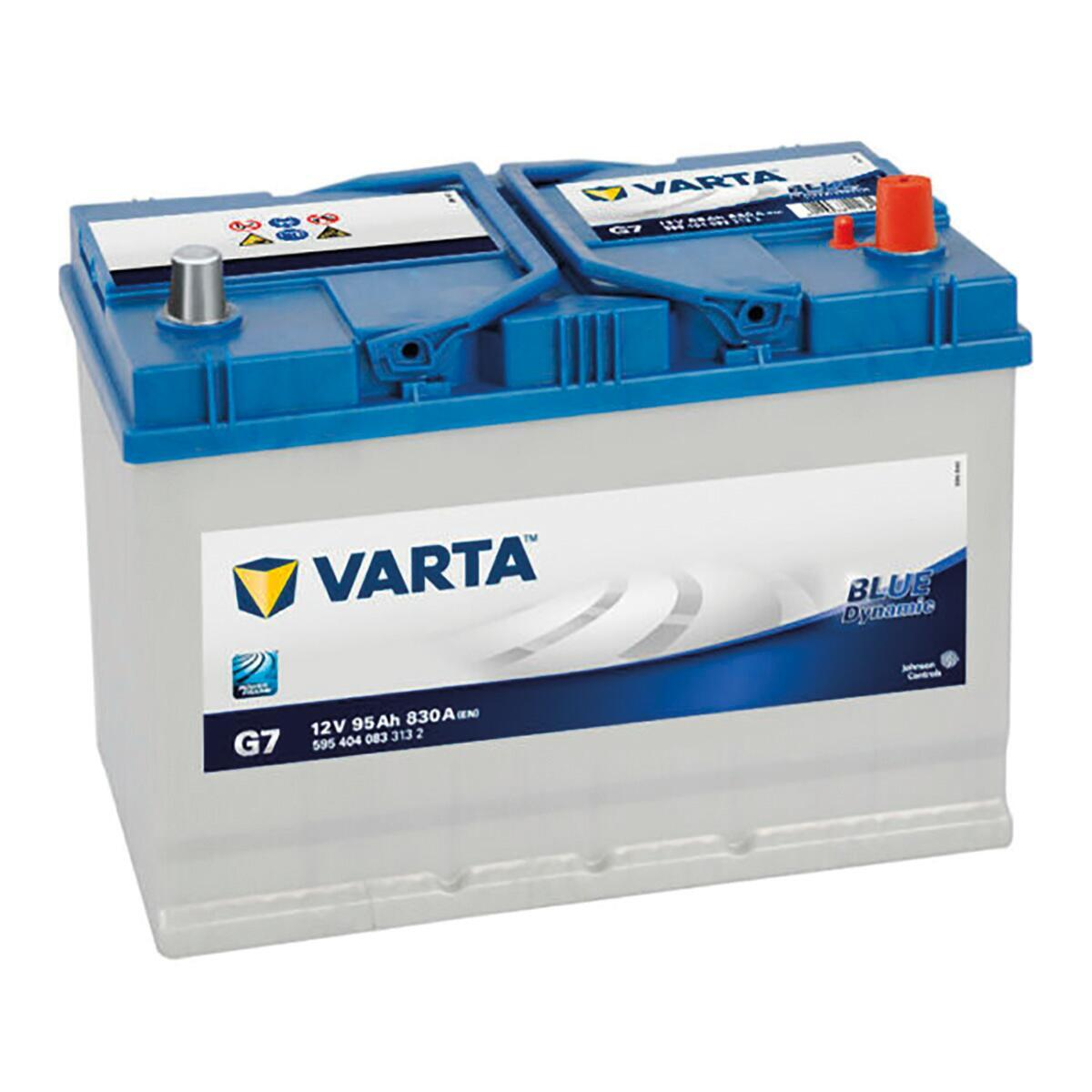 Batteria VARTA Blue Dynamic G7 polo destro in piombo 12 V 95 Ah