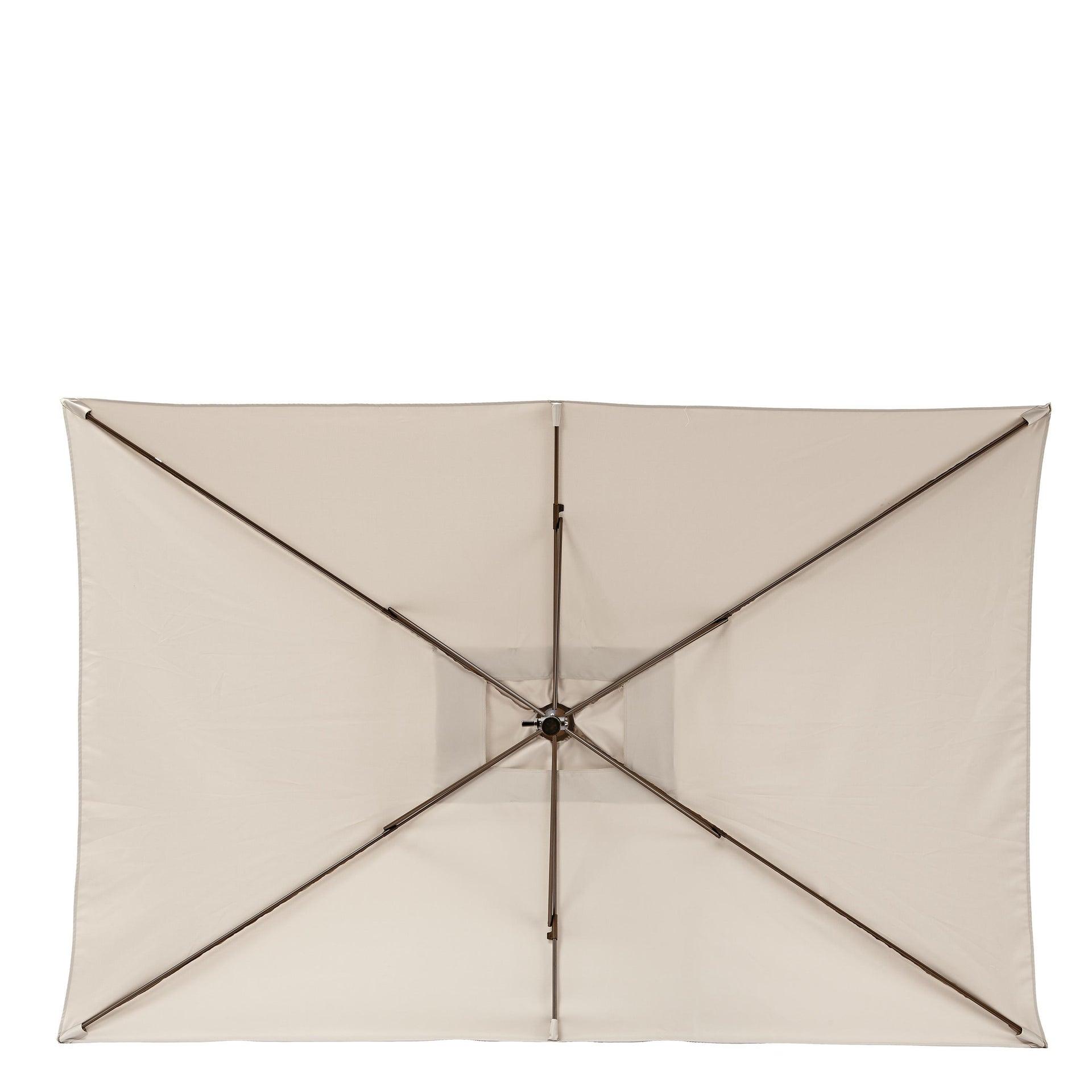 Ombrellone Polar L 1.94 x P 3 m color tortora - 8