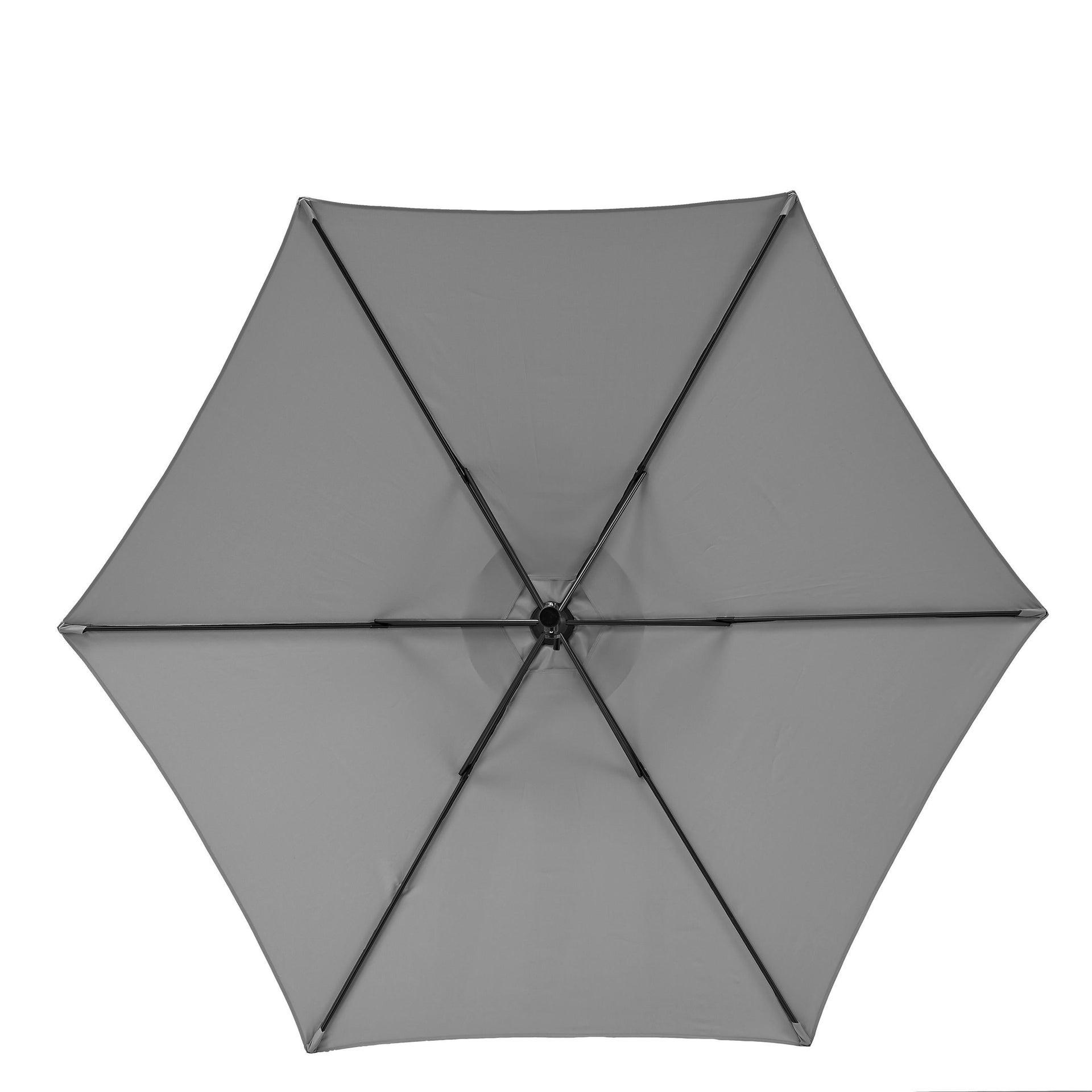 Ombrellone Polar L 2.62 x P 2.62 m color grigio - 7