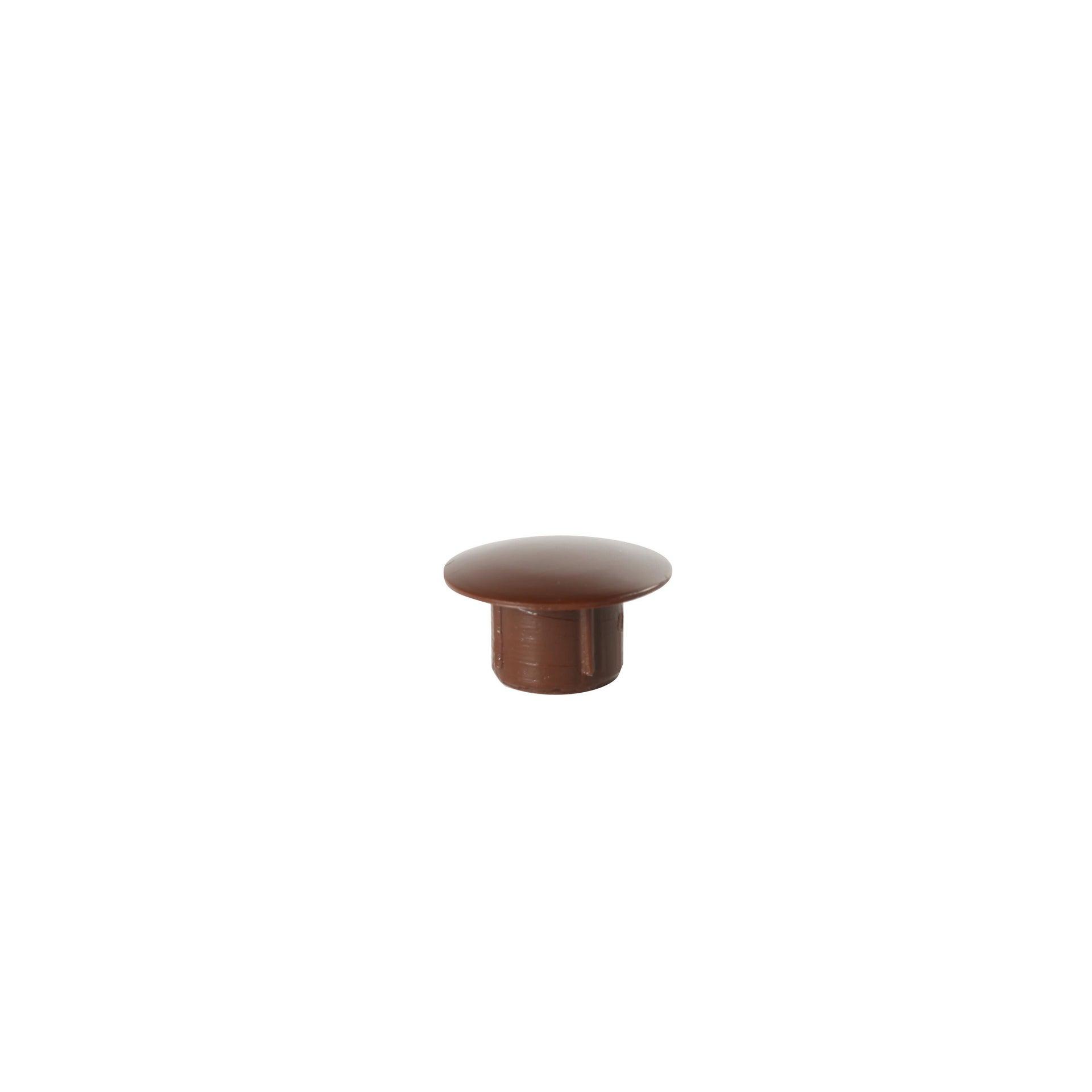 Copri buco Tondo in plastica marrone Ø 10 mm, 8 pezzi
