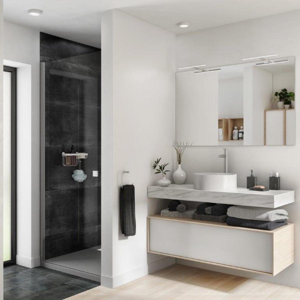 Mobile bagno Neo frame rovere naturale/bianco L 90 cm
