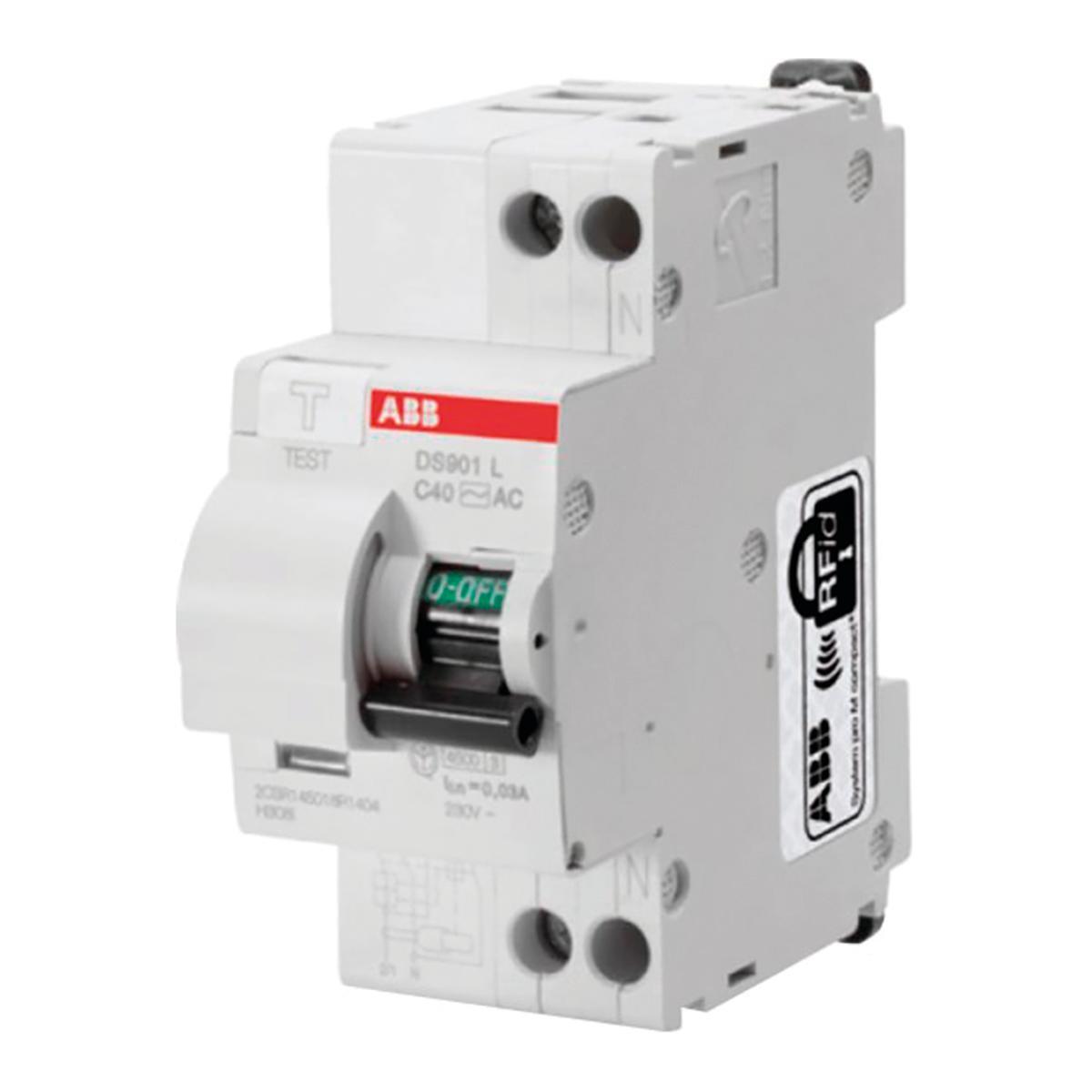 Kit Interruttore magnetotermico differenziale ABB DS 901 1 polo 25A 4.5kA 30mA AC 2 moduli 230V, 5 pezzi - 2