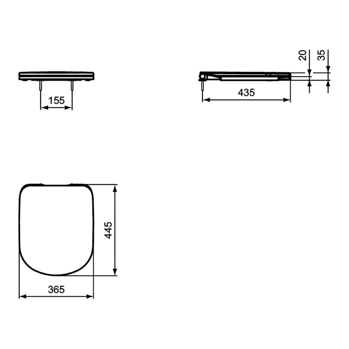 Copriwater ovale Originale per serie sanitari Gemma 2 IDEAL STANDARD termoindurente bianco - 5