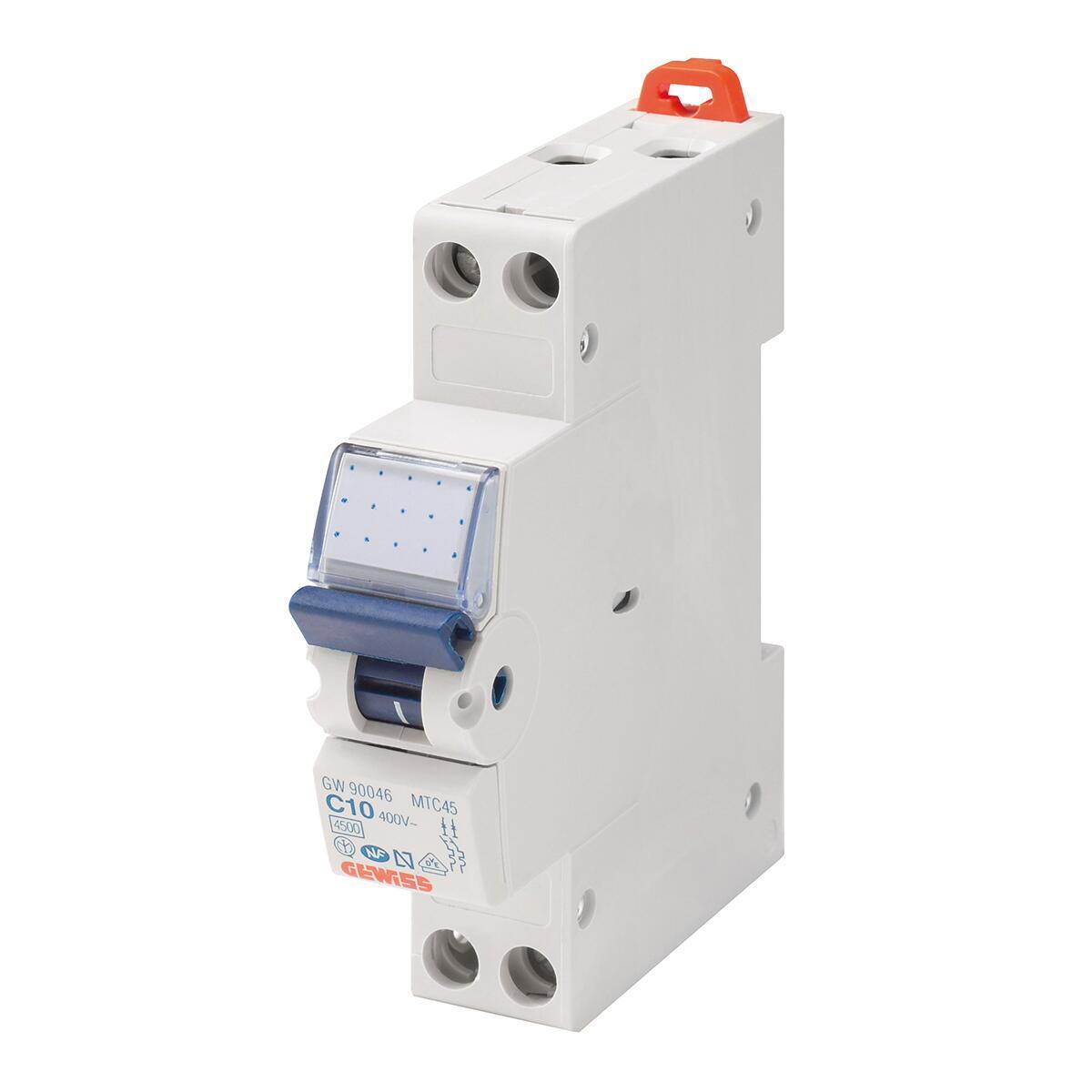 Interruttore magnetotermico GEWISS GW90028 1P +N 20A 4.5kA C 1 modulo 230V