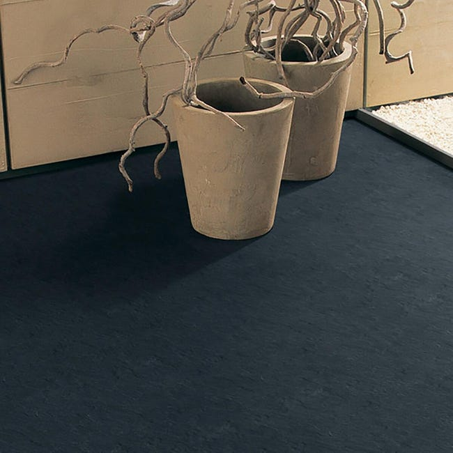 Pavimento PVC adesivo Slate Sp 1.5 mm nero - 1