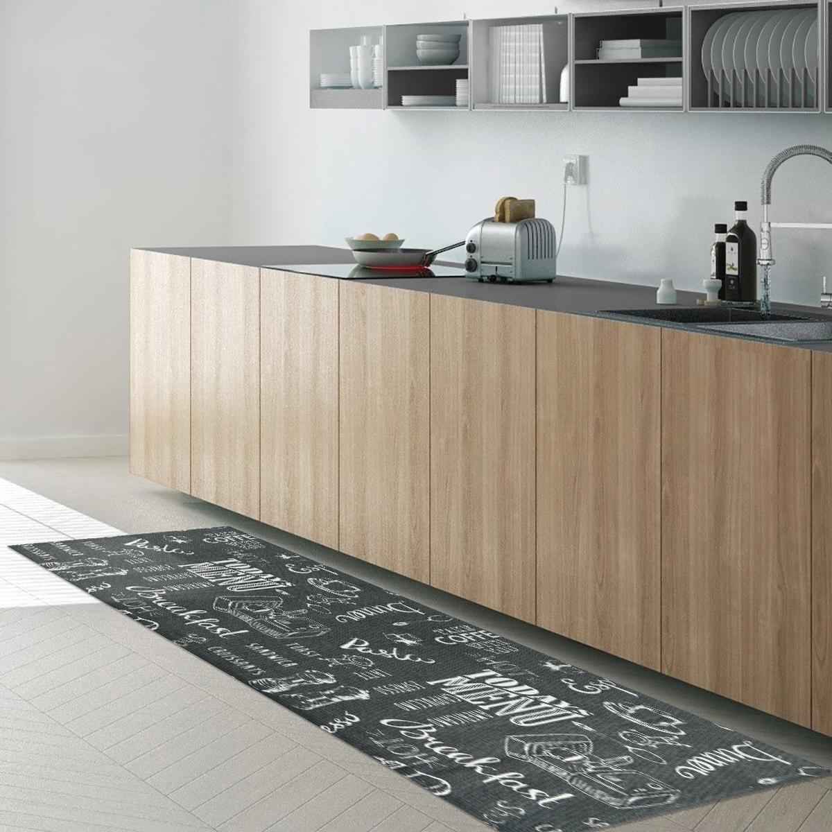 Passatoia Blackboard , grigio, 50x170 - 1