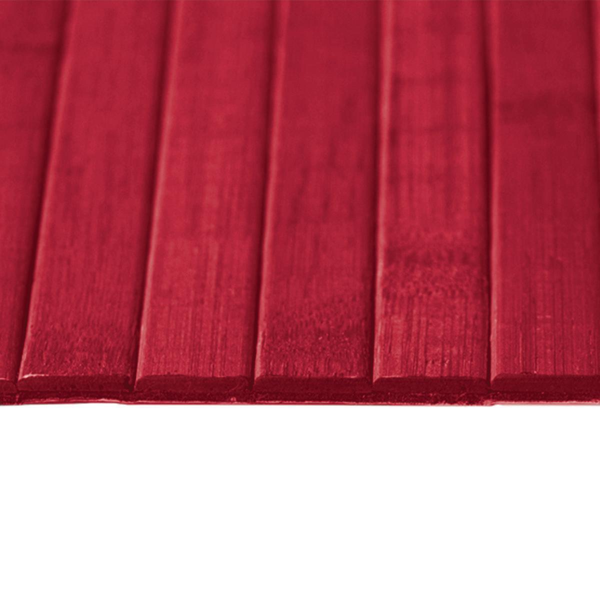 Passatoia Bamboo open , rosso, 50x280 - 2