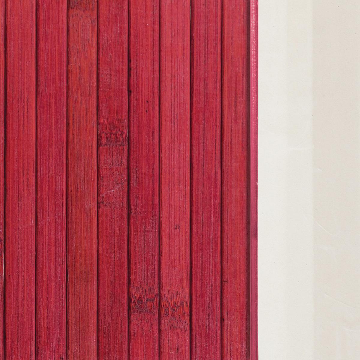 Passatoia Bamboo open , rosso, 50x280 - 3
