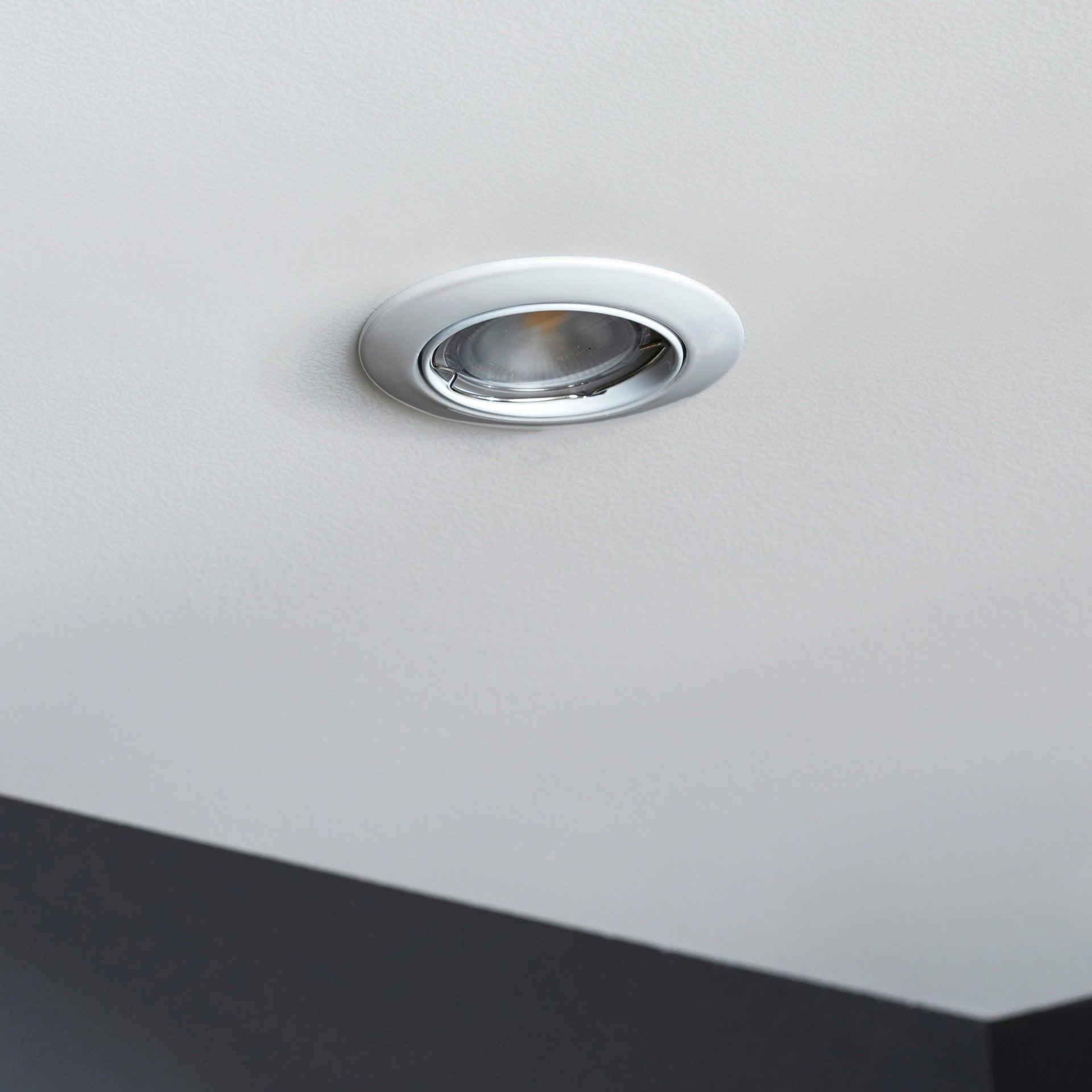 Set da 3 pezzi Faretto orientabile da incasso tondo Clane in Alluminio bianco, diam. 8.2 cm GU10 6W IP23 INSPIRE - 1