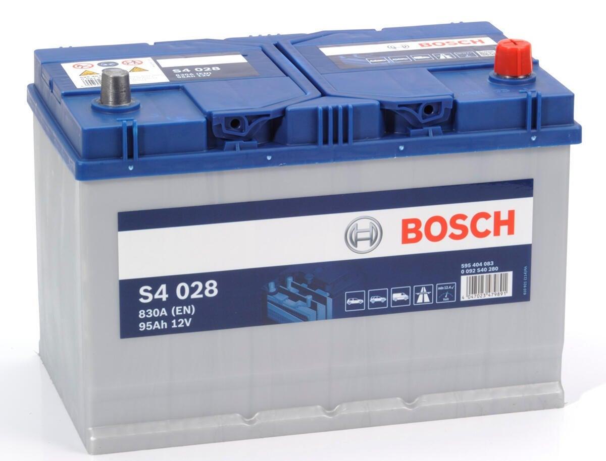 Batteria BOSCH S4 028 polo destro in piombo 12 V 95 Ah