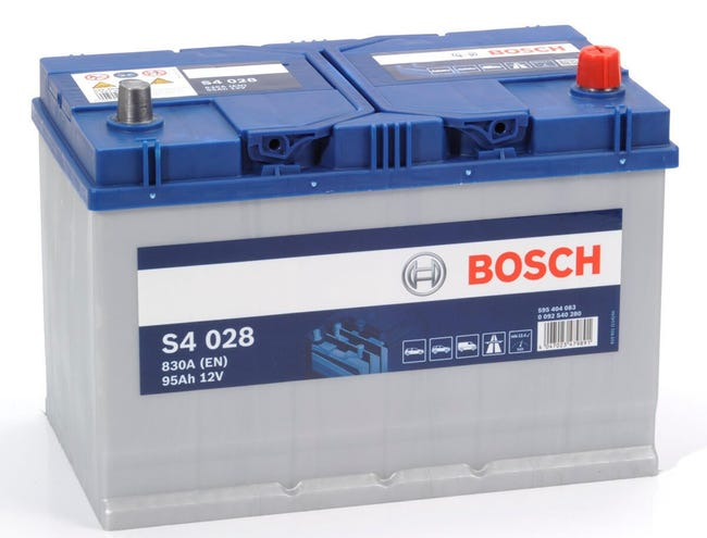 Batteria BOSCH S4 028 polo destro in piombo 12 V 95 Ah - 1