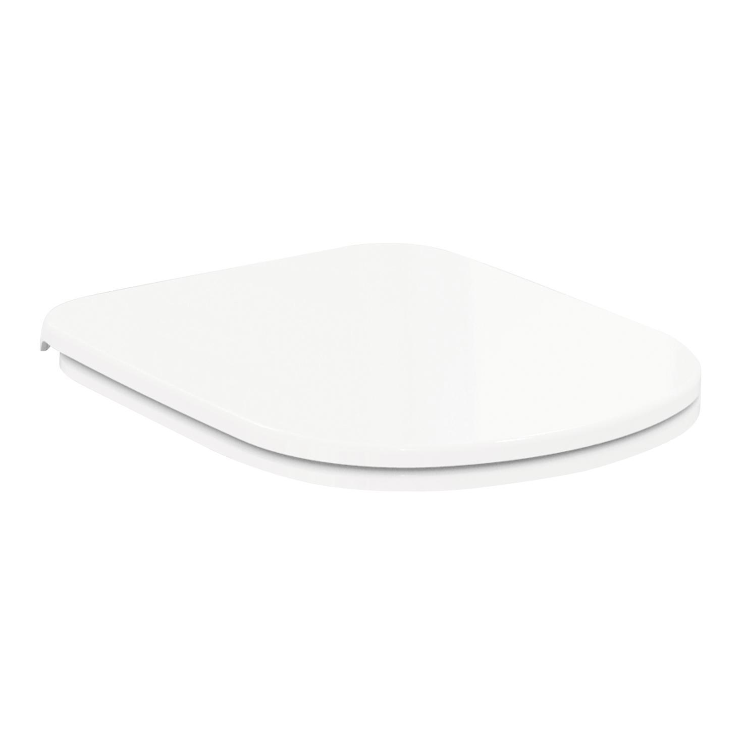 Copriwater ovale Originale per serie sanitari Gemma 2 IDEAL STANDARD termoindurente bianco - 1